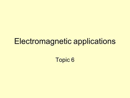 "Electromagnetic applications Topic 6. Reading assignment Chung, Composite Materials, Ch. 5. No. 81 under ""Publications – carbon"" in website"