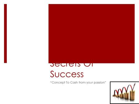 "Secrets Of Success ""Concept To Cash from your passion"""
