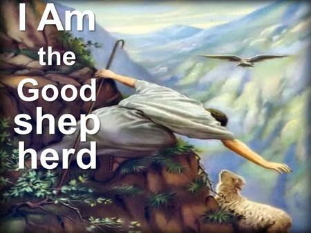 I Am the Good shep herd. Protector and guide in life The Good shephe rd John 10:11-18.