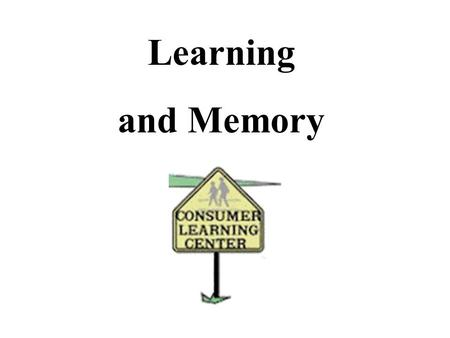 Learning and Memory. What is Learning? A change in Behaviour caused by experience. What is Consumer learning?