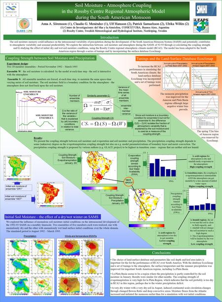 Coupling Strength between Soil Moisture and Precipitation Tunings and the Land-Surface Database Ecoclimap Experiment design: Two 10-member ensembles -