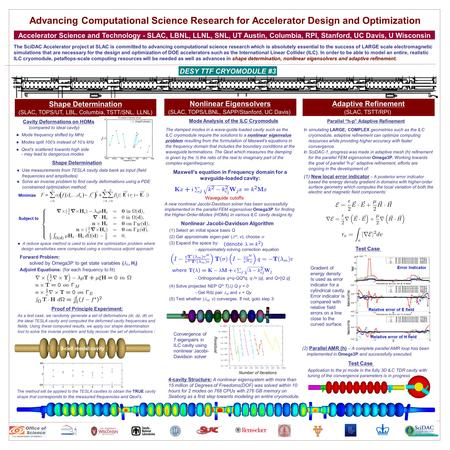 Advancing Computational Science Research for Accelerator Design and Optimization Accelerator Science and Technology - SLAC, LBNL, LLNL, SNL, UT Austin,