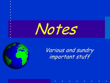 Notes Various and sundry important stuff. esf Laboratory for Applied GIS 2 Overview Computers in Moon Submitting the Transcript Your data structure (again)