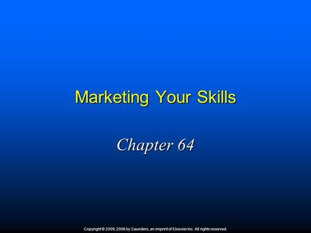 Marketing Your Skills Chapter 64 1