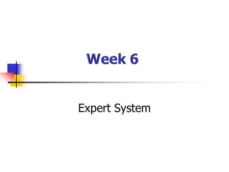 Week 6 Expert System. Case Scenario During ABC Enterprise management meeting to discuss whether the company should consider a merger with other business.