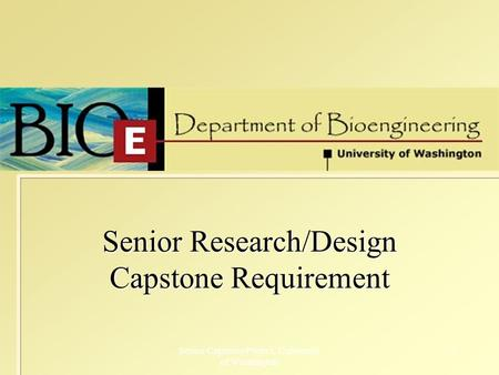 Senior capstone projects
