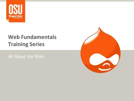 Web Fundamentals Training Series All About the Web.