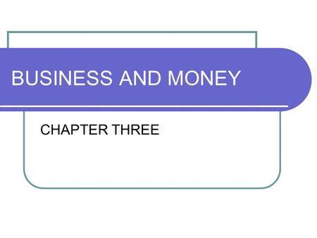 BUSINESS AND MONEY CHAPTER THREE. LEARNING OBJECTIVES By the end of the lesson, students will be able to 1. Draw conclusion of the reading text 2. Summarize.