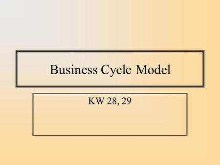 Business Cycle Model KW 28, 29. AS-AD Framework Microeconomists use supply/demand framework for thinking about markets. Macroeconomists use Aggregate.