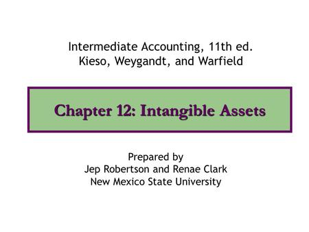 Chapter 12: Intangible Assets