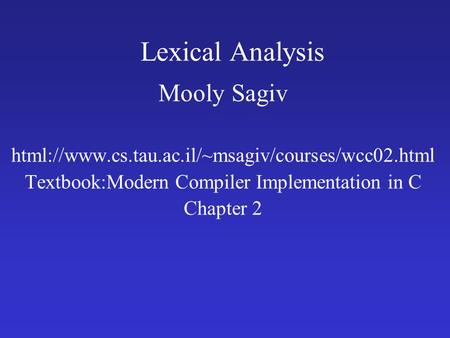 Writing a Compiler in C#: Lexical Analysis