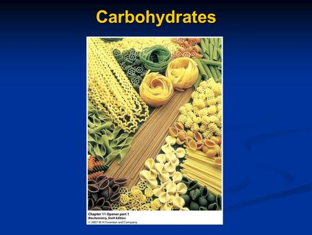 Carbohydrates. A Few Questions 1) What is the general term used for the simplest carbohydrates? 2) What structural difference is found in the straight.