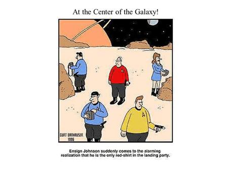 At the Center of the Galaxy!. Galaxy Centers are Mysterious and Wild Below is a picture of where the Galaxy center is with respect to the horizon (for.