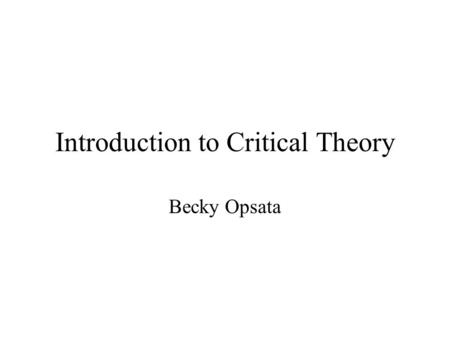 poststructuralist theory essay