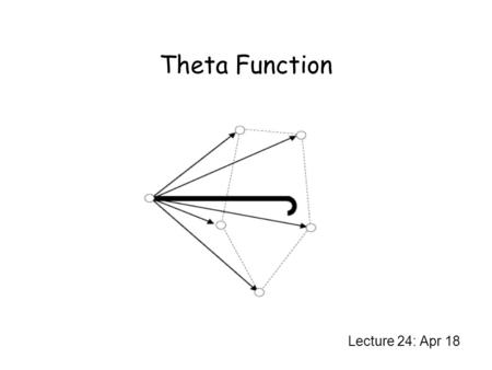 Theta Function Lecture 24: Apr 18. Error Detection Code Given a noisy channel, and a finite alphabet V, and certain pairs that can be confounded, the.