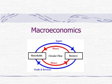 Macroeconomics. 1. Circular flow – the movement of output and income from one sector of the economy to another.