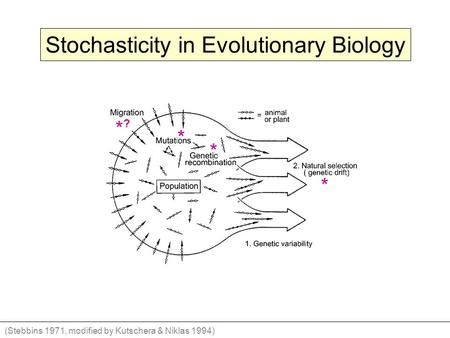 Stochasticity in Evolutionary Biology