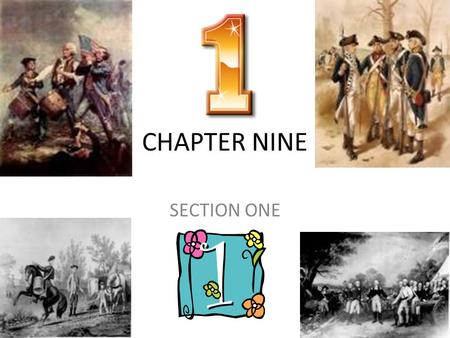 CHAPTER NINE SECTION ONE.