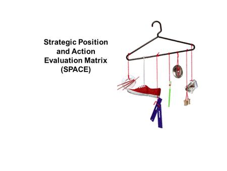 the strategic position and action evaluation space matrix The space matrix or more formally, the strategic position and action evaluation matrix recommends one of four basic strategic approaches for a business and today i'm going to focus on the competitive strategy dimension this is when the business is in a good position in its marketplace but its financial strength is insufficient to compensate.