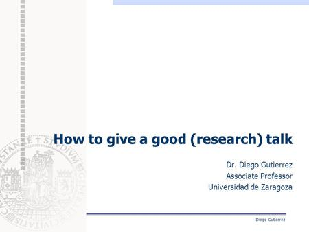 How to give a good (research) talk