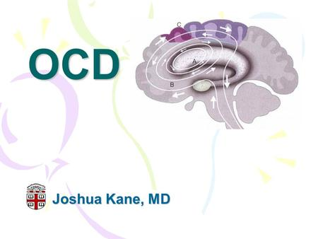 OCD Joshua Kane, MD. What is OCD? DSM-IV TR Criteria: A. Either obsessions or compulsions: Obsessions as defined by (1), (2), (3), and (4): (1) recurrent.