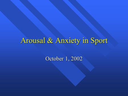 anxiety in individual sports Mind, body and sport: anxiety disorders  the individual who has been taught to fear dogs will become anxious near dogs or dog-like scenarios, and they will feel a .