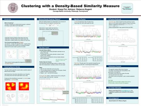POSTER TEMPLATE BY: www.PosterPresentations.com Note: in high dimensions, the data are sphered prior to distance matrix calculation. Three Groups Example;