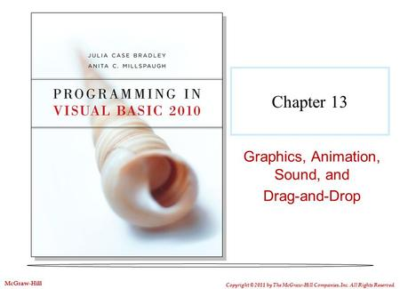 Chapter 13 Graphics, Animation, Sound, and Drag-and-Drop Copyright © 2011 by The McGraw-Hill Companies, Inc. All Rights Reserved. McGraw-Hill.