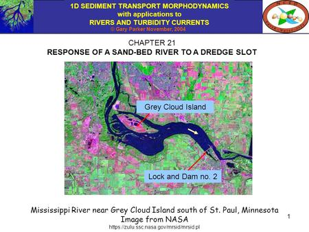 1D SEDIMENT TRANSPORT MORPHODYNAMICS with applications to RIVERS AND TURBIDITY CURRENTS © Gary Parker November, 2004 1 CHAPTER 21 RESPONSE OF A SAND-BED.