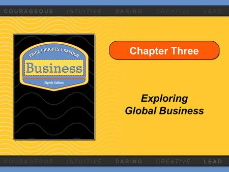 Chapter Three Exploring Global Business. Copyright © Houghton Mifflin Company. All rights reserved.3 - 2 Learning Objectives 1.Explain the economic basis.