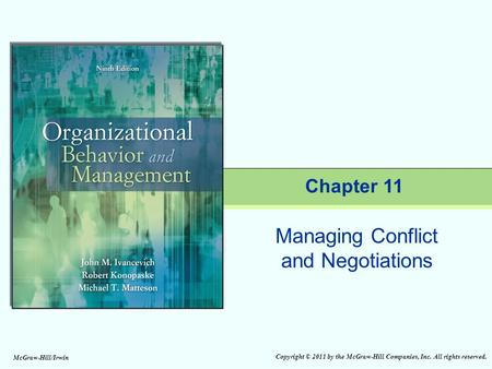 Managing Conflict and Negotiations