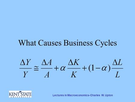 Lectures in Macroeconomics- Charles W. Upton What Causes Business Cycles.