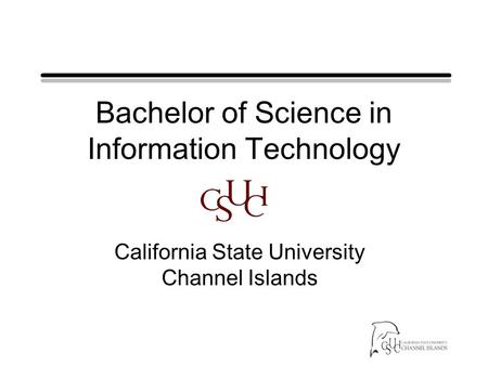 Bachelor of Science in Information Technology California State University Channel Islands.