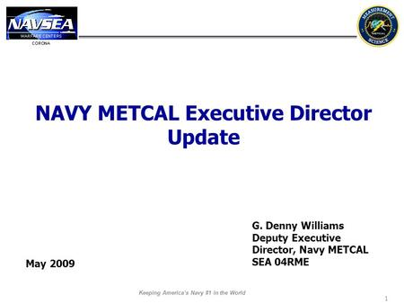 NAVY METCAL Executive Director Update