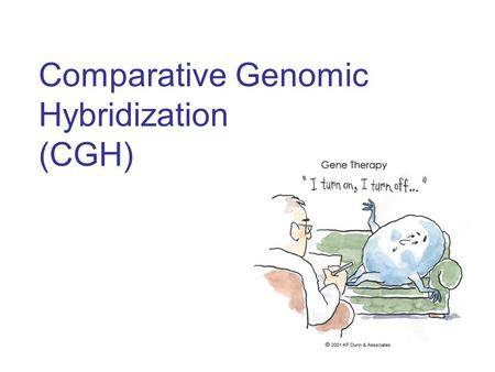 Comparative Genomic Hybridization (CGH). Outline Introduction to gene copy numbers and CGH technology DNA copy number alterations in breast cancer (Pollack.