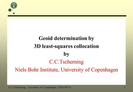 Geoid determination by 3D least-squares collocation