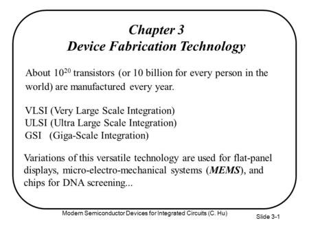 Device Fabrication Technology