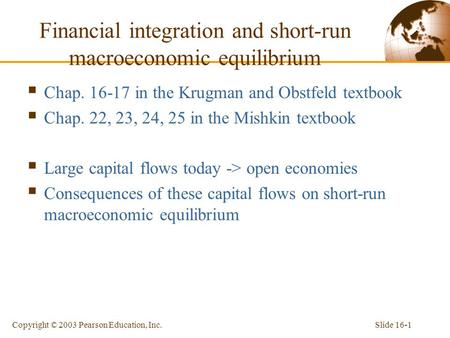 Financial integration and short-run macroeconomic equilibrium