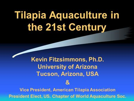 Tilapia Aquaculture in the 21st Century
