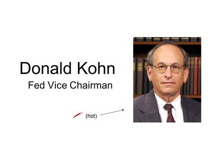Donald Kohn Fed Vice Chairman (hot). Inflation Risks (factors that suggest or permit raising rates) Increasing wage pressures (Bloomberg: labor costs.