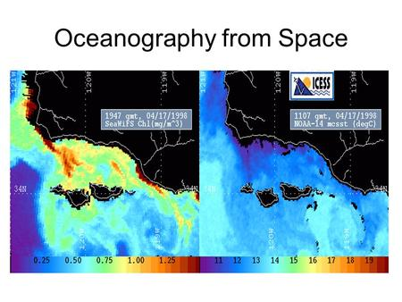 Oceanography from Space. Landsat images show how much energy from the sun (electromagnetic radiation) was reflecting off the Earth's surface when.