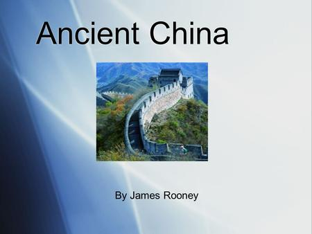 Ancient China By James Rooney China population  With just over 1.3 billion people (1,330,044,605), China is the world's most populous country. As the.