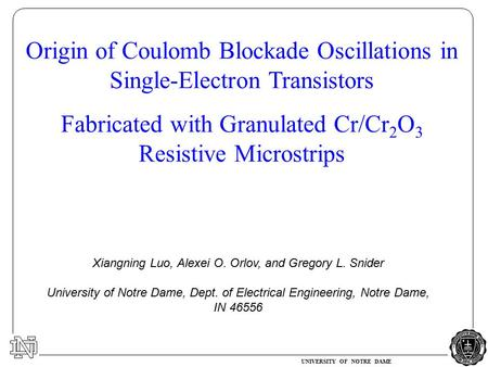 Origin of Coulomb Blockade Oscillations in Single-Electron Transistors