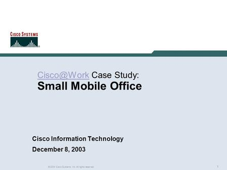 cisco systems case study solution