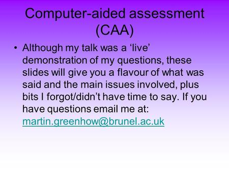 Computer aided essay assessor