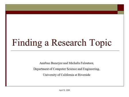 finding a research topic 100 technology topics for research papers updated on february 5, 2018 find a topic idea: look over the topic lists below to find a question that interests you.