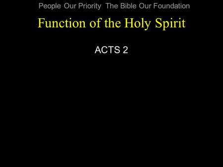 Function of the Holy Spirit