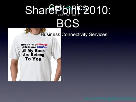 SharePoint 2010: BCS  m Business Connectivity Services.
