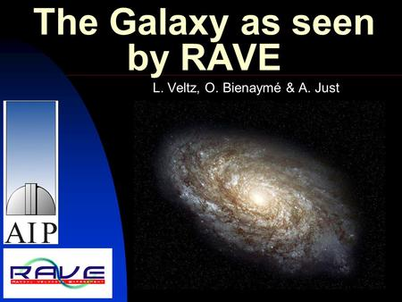 The Galaxy as seen by RAVE L. Veltz, O. Bienaymé & A. Just.