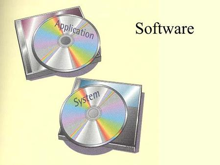 Software. Application Software performs useful work on general-purpose tasks such as word processing and data analysis. The user interacts with the application.